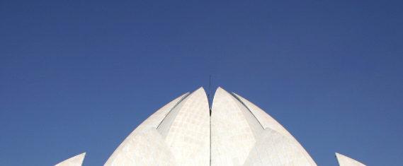 Der Lotus-Tempel in Neu-Delhi.